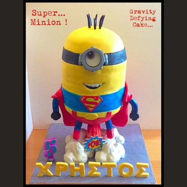 Τούρτα Superman Minion antigravity
